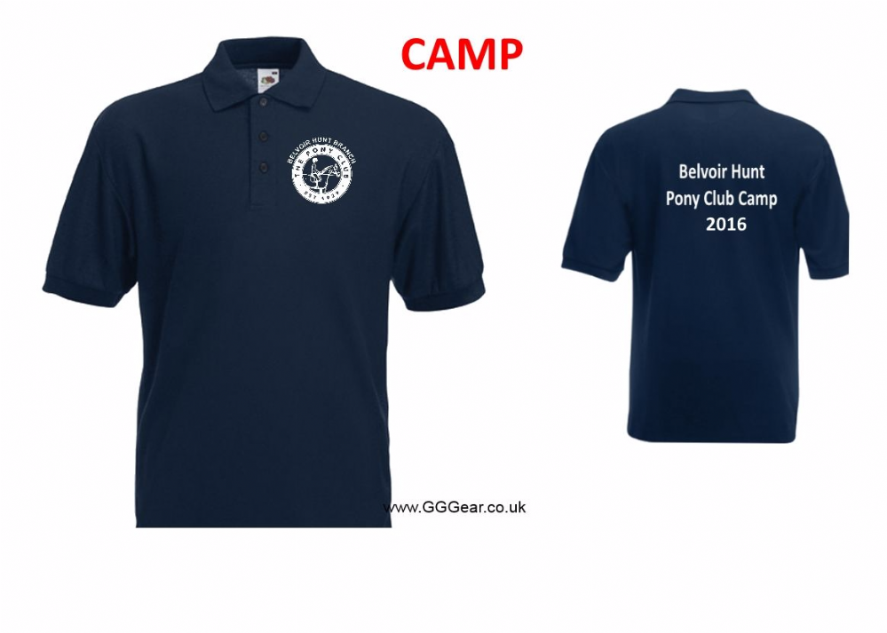 CHILD Belvoir Pony Club Navy 2018 CAMP Polo Shirt